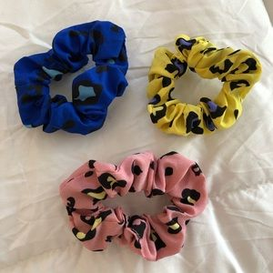 Set of 3 leopard print scrunchies